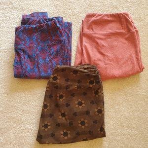 Lularoe leggings set of three